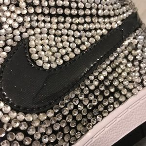 98aa9e18063b Nike Shoes - Bling Rhinestone Nike Air Force High Top Sneakers
